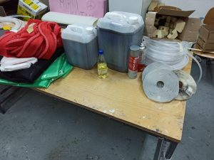 Material donation for vacuum infusion